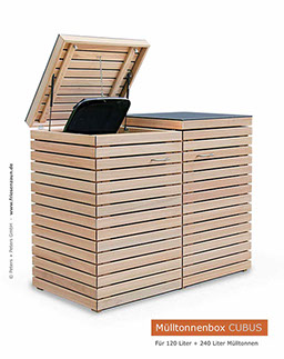 moderner m lltonnenschrank cubus gasdruckfedern. Black Bedroom Furniture Sets. Home Design Ideas