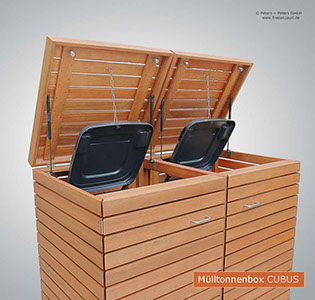 moderner m lltonnenschrank cubus gasdruckfedern. Black Bedroom Furniture Sets. Home Design Ideas