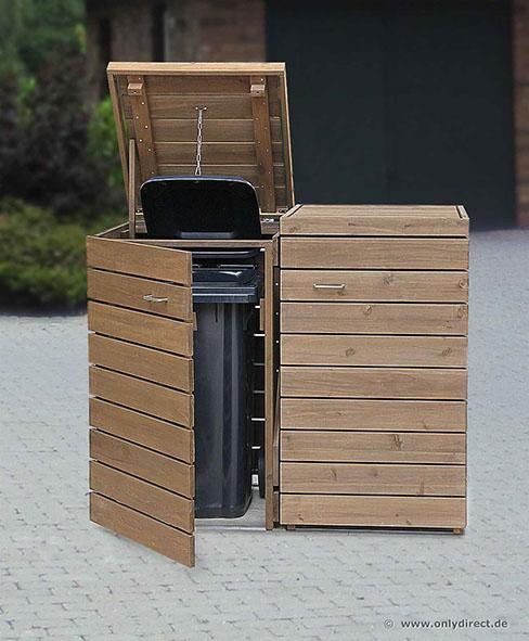 moderne m lltonnenbox primus asiatische zeder fsc zubeh r aus edelstahl unendlich verl ngerb. Black Bedroom Furniture Sets. Home Design Ideas
